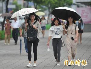 潭美動態不明 北部東半部降溫多雨 南部高溫少雨