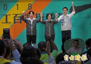 蔡英文竹縣參加百工百業挺改革大會 為鄭朝方站台