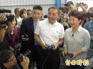 國民黨市長參選人新北市合體 盧秀燕給侯友宜「秀秀」