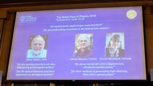 2018諾貝爾物理獎 美法加3學者共享殊榮