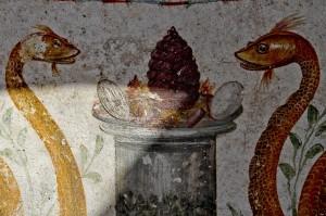龐貝遺址祭壇壁畫出土 2000年古老繽紛圖像清晰可見