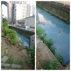 中市河水起泡變藍 環保局竟回:藍天倒映、魚兒呼吸