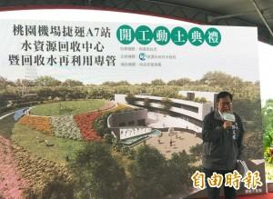 機場捷運A7站水資源回收中心開工  鄭文燦主持動土典禮