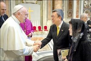 蔡總統感謝教宗祝福 支持教廷傳遞自由和平價值