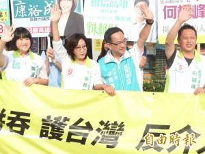 反併吞、反介入遊行下午登場 高雄綠營選將號召萬人上街頭