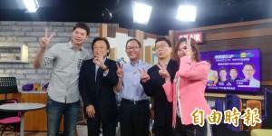 直播節目王世堅稱韓國瑜是禿頭版柯文哲 師徒一個樣