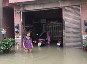 朴子黃金百萬城淹水測量惹議 公所表示可申覆