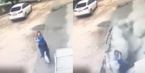 驚悚畫面曝光!2女慘遭馬路「吞噬」 還被瓦礫活埋