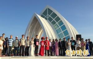 水晶教堂紅到海外!中泰澳越4對新人 在北門幸福完婚