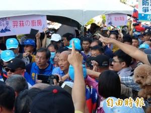 高雄反空污大遊行 國民黨候選人合體搶鋒頭