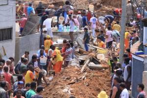 巴西里約大石崩落 已知10死、多人下落不明