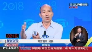 電視辯論》韓國瑜都推給局長  他酸:那市長官派好了