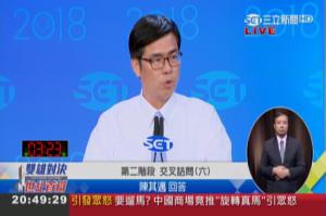 電視辯論交叉詰問》韓國瑜質問如何發展觀光遭陳其邁打臉