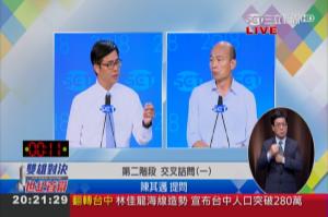 電視辯論交叉詰問》陳首攻漁港轉型 韓:這是滴滴答答的小問題