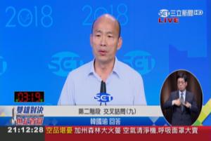 電視辯論交叉詰問》陳其邁問青年政策 韓國瑜離題