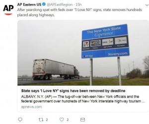 害駕駛人分心!美「我愛紐約」路標大量移除