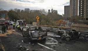 感恩節前   紐約布魯克林大橋連環車禍致1死5傷
