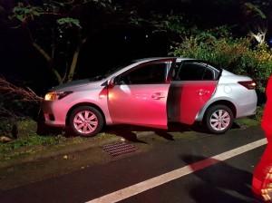 租車上山燒炭中途後悔 女子返家自撞路樹送醫