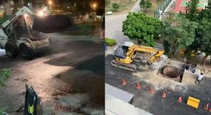 昨晚鋪路隔天開挖埋水管 網友:鋪身體健康的?
