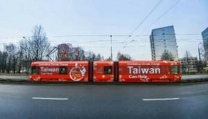 UNFCCC大會波蘭進行中…台灣公車宣傳驚豔登場