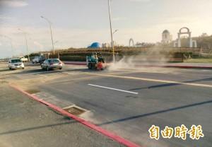 東北季風飄沙每天清 竹市南寮大道行車安啦!