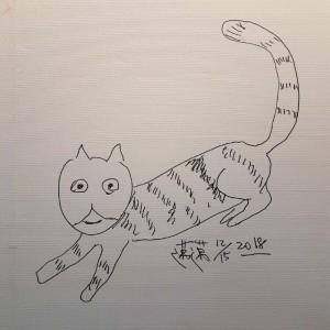 先畫愛貓再簽名!陳其邁萌簽「這兩字」 讓網友笑翻
