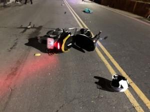 消防隊員騎車遇修路 竟摔到顱內出血