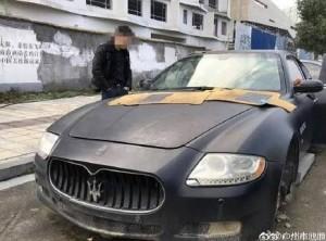 中國男忘記有瑪莎拉蒂 1年驚覺已被偷到剩車殼