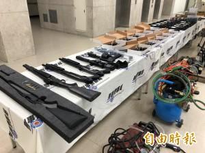 槍械改造地下兵工廠隱身透天厝 警起獲長短槍及上千發子彈