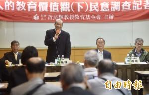 黃昆輝教授教育基金會民調:87%支持英語列第二官方語言