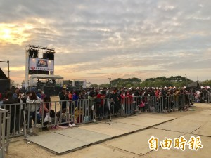 台南心時代跨年晚會彩排 已有粉絲守候舞台區