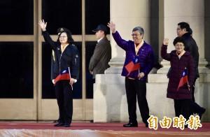 元旦總統府升旗 總統與「新台灣人」領唱國歌