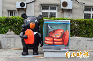 萡子寮神氣彩繪村再進化 4D彩繪加「喔熊」成打卡新景點