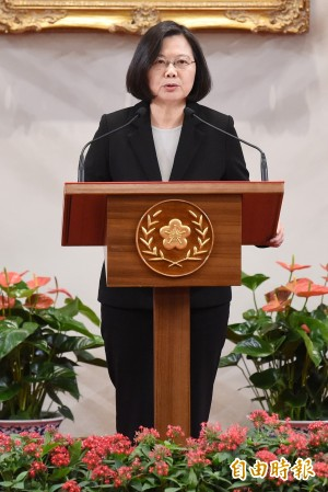 回應習近平 蔡總統:台灣絕不接受九二共識、一國兩制