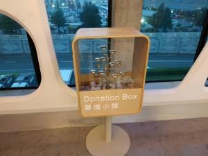 捐錢可聽悅耳鈴聲 桃機公司發揮創意設18處募款箱
