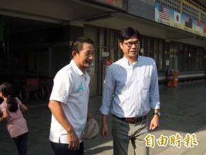 韓國瑜自喻像陀螺 陳其邁:當市長兩頭燒很辛苦