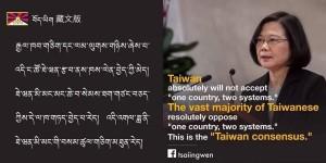 不只藏文版!小英貼台灣共識圖 這2版本讓五毛高血壓