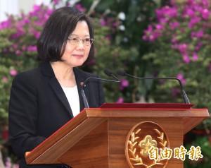 蔡總統:反對一國兩制 最重要的台灣共識