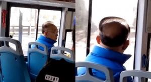中國男透光薄髮罩禿頭 網友笑:比空氣感流海更猛