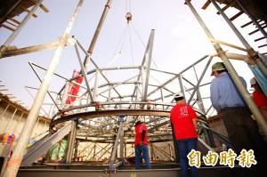 台灣燈會主燈「巨鮪來富」基座安座 串聯小鎮風情