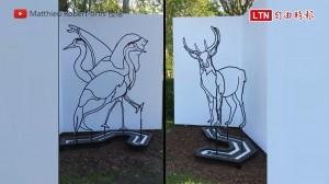 雄鹿換個角度竟會變成鶴? 發人省思的雙面雕塑