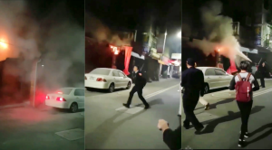 變電箱爆炸險釀火燒厝 行經員警秒變救火員