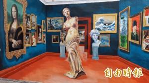 台東窄巷陋牆彩繪世界名畫 變打卡新熱點