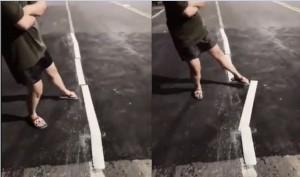 韓市府鋪路品質超掉漆?「路面標線」竟然一踢就歪掉