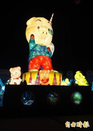 南投燈會今晚開燈 「光毯古堡」搶走主燈「福嘟嘟」風采