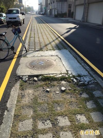 路中央設植草磚…變烏日高鐵特定區輪胎刺客、犁田兇手