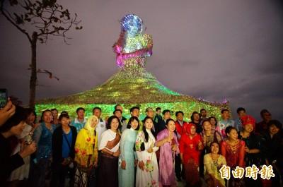台灣燈會新住民藝術主燈 「海之女神」今晚點燈絕美