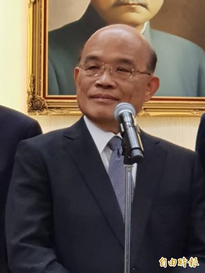 蘇揆:公建預算執行率偏低部會 首長應親自督導