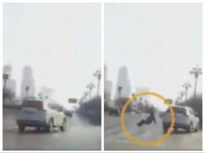 車子撞到「本來不在那」的人… 網友看了驚呼有夠毛!