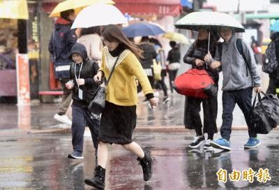 冷氣團來襲北台灣濕冷 明起低溫下探12度!